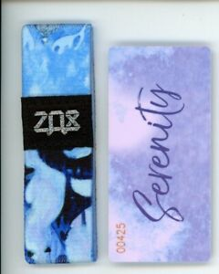 Medium ZOX Silver Strap SERENITY Wristband with Card Reversible