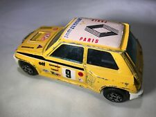 VINTAGE RENAULT 5 TURBO RACE BBURAGO DIE-CAST CAR Yellow