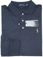 NEW $98 Polo Ralph Lauren Long Sleeve Navy Blue Heather Shirt Mens Classic Fit