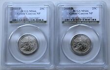 2010 P & D Grand Canyon NP Quarter Set PCGS MS66 , 2 Coin Set