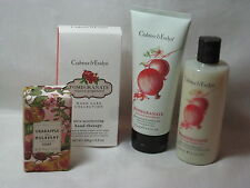 CRABTREE & EVELYN POMEGRANATE ARGAN & GRAPESEED ASST + CRABAPPLE & MULBERRY SOAP