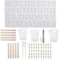Buchstaben Nummer Silikon Formen für Harz mit Harzher Stellung Werkzeuge Ki N2O3