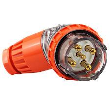 5 Pin 20 Amp 3 Phase Angled Plug IP66 – 500V 20A Weatherproof