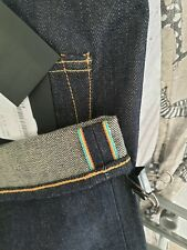 Edwin Unwashed Rainbow Selvedge Jeans ED-80 32 Straight Indigo Pants Raw Blue
