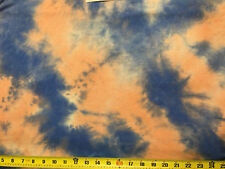 Tie-Dye Rayon Strech Jersey Knit  Fabric Beautiful Blue Pink combo by the yard