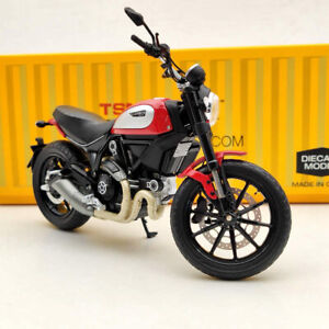 1/12 TSM Ducati Scrambler Icon 803CC 2015 Rosso TSMMC004 Red Diecast Motorcycle