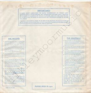 """Vintage INNER SLEEVE or SLEEVES 12"""" IMPORTANT! THE RECORD EQUIPMENT lines v4 x 1"""