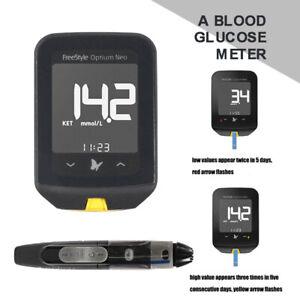 Blood Glucose & Blood Ketone Testing Meter Monitor Built-in Lithium Battery Kit
