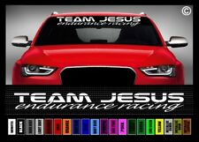 "40"" Team Jesus Endurance Racing Christian Car Decal Sticker Windshield Banner"