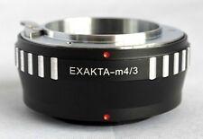 Exakta Mount Lens to Micro 4/3 M4/3 M43 Mount Adapter GF3 GX1 EP3 OM-D EXA-M43