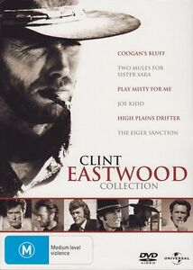 Clint Eastwood collection DVD 6-Disc Set fast safe shipping &tracking