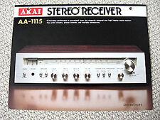 Akai AA-1115 receiver brochure catalogue
