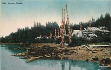 C-1910 KASSAN ALASKA Waterfront HTT CO postcard 2989