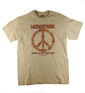 Woodstock Festival 1969 Catskill Mountains Retro Natural T-Shirt Ideal Gift