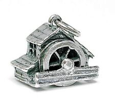 VINTAGE SILVER MOVABLE WELSH WATERMILL CHARM