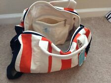 Caribbean Joe Island Supply Co. Duffle Bag Over the Shoulder Blue Orange White