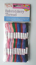 Embroidery Thread Floss 12 Skeins BY Sewing Box Braiding And Craft 100% Cotton