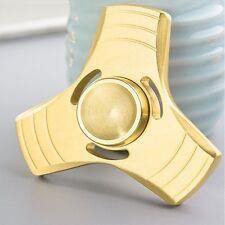 Gold Aluminum Hand Spinner Tri Fidget Ball Desk Toy EDC Stocking Stuffer