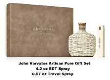 JOHN VARVATOS ARTISAN PURE Gift Set (4.2 oz EDT + 0.57 oz Travel Spray), NEW