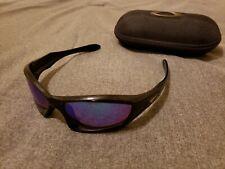 Oakley Monster Dog Black w/ shallow blue lenses very rare