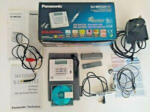 Panasonic SJ-MR220 MiniDisc Recorder / Player. Walkman Excellent Condition boxed