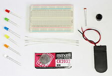 LED, SENSOR, BUZZER, 400 POINT BREADBOARD, Electronics Kit for Experimenters