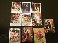 lot 10 Toronto Raptors signed cards autographed nba basketball card signatures