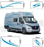 (No.735) Camper Van Graphics, Motor Home Vinyl Graphics Decal, Sticker both side