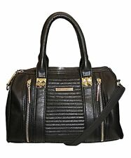 Rampage Womens NEW Top Handle Pebbled Convertible Satchel Gray Med OS Orig $78