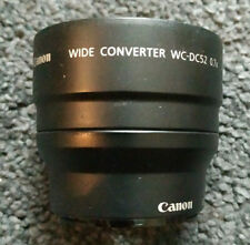 Canon WC-DC52 Wide Converter Lens With Bag