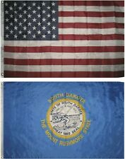 Wholesale Combo Lot of 3x5 USA Flag & State of South Dakota 3x5 2 Flags Banner