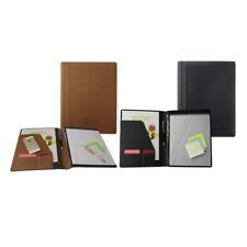Premium Business Leather Padfolio Portfolio Folder Organizer Resume Black Tan