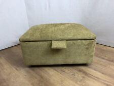 Mustard Foot Stool/Storage Box/Pouffe