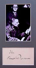 JEWISH Composer PAUL DESSAU Hand SIGNED AUTOGRAPH + PHOTO +DECORATIVE MAT Brecht
