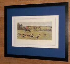 """South Dorset Hunt-Cecil Aldin-Vintage horse & Hound STAMPA - 20"""" x16"""" FRAME"""