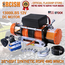 ORCISH 13000LBS Electric Winch Waterproof Truck Trailer Synthetic Rope Offroad
