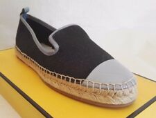 FENDI ESPADRILLES JUNIA NAVY BLUE 36 5 WOMAN CANVAS  SHOES SPRING SUMMER FLAT