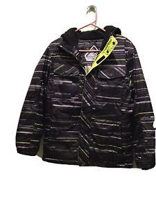 Boys Zeroxposur Winter Jacket, Size Large, 14-16. Gray/black/Yellow