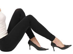 2 Stück Leggings Leggins Legins Legings schwarz Blickdicht Hose