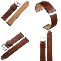 For Fossil Smart Watches 18 20 22mm Quick Release Leather Watch Band Wrist Strap