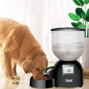 Qpets AF-200, Automatic Dog Feeder, Holds 10 lbs Dry Food, 1-4 Meals, Voice