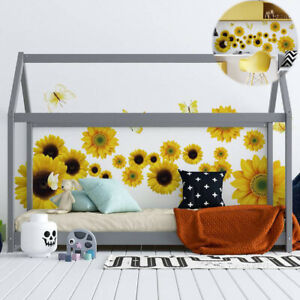 Sunflowers Stickers Yellow Colour Wall Vinyl Self Adhesive 50*70 cm Decals