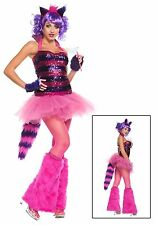 WOMEN'S EXCLUSIVE SEXY SEQUIN CHESHIRE CAT COSTUME Size MEDIUM