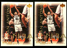TIM DUNCAN ~ 2000 UD PROS & PROSPECTS #73 ~ 2 CARDS  ~ NBA HALL OF FAME INDUCTEE