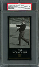 1997-98 GRAND SLAM VENTURES GOLF MASTERS GOLD FOIL JACK NICKLAUS (1963) PSA 8