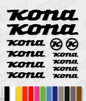 KONA Die-cut Decal Sticker sheet (cycling, mtb, bmx, bike, frame) - V3