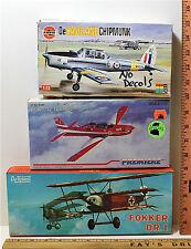 1:72 Model Airplane Kits Dehavilland Chipmunk + EMB. 312 Tucano + Fokker DR.1