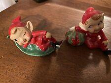 Vintage 1950'S Ceramic Elf Or Pixie Garden Leaves And Fruit- Japan