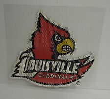 6-Inch Louisville Cardinals Logo Perforated Vinyl Window Graphic
