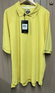 Men's Adidas Climalite Pique Short Sleeve Polo Shirt Yellow 3XL